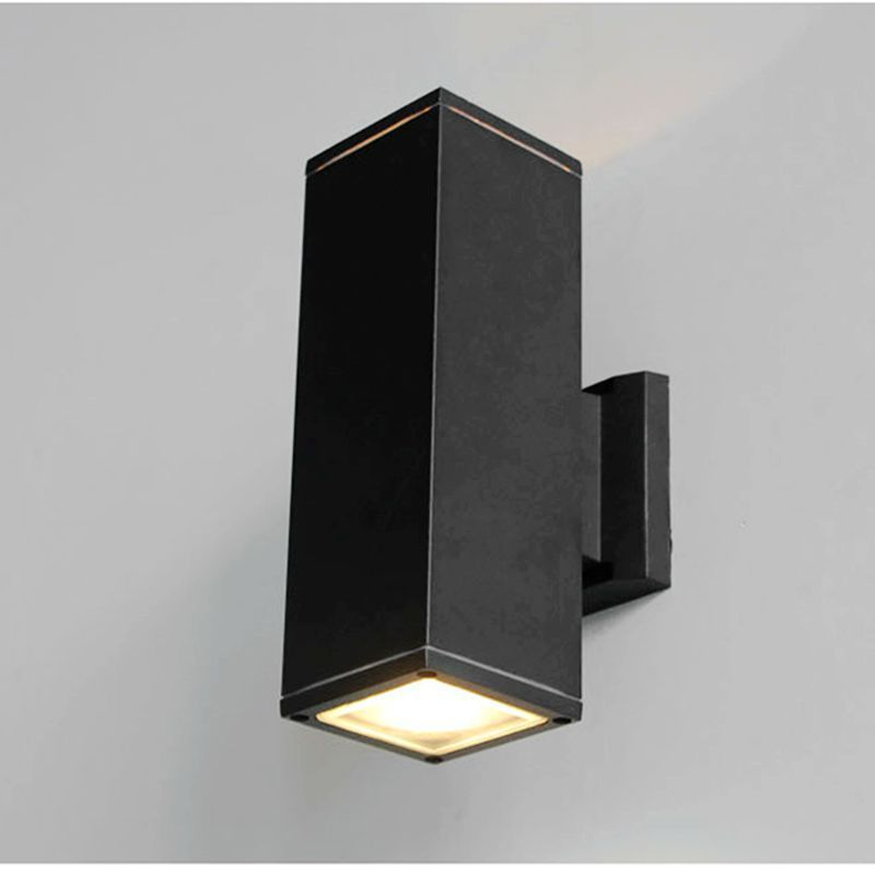 10PCS 10W 12W 18W 24W 30W IP65 Waterproof AC85 265V Led Wall Lamp Modern Minimalist Up And Down Light Square Aluminum Outdoor