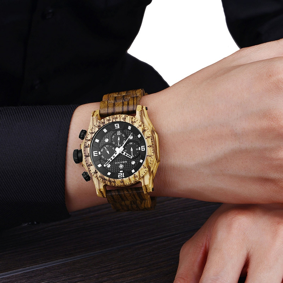 Men's Waterproof Wooden Watch (7)