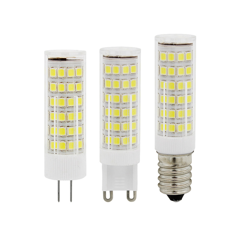 <font><b>10</b></font> <font><b>Pcs</b></font> E14 <font><b>G4</b></font> G9 LED Light 220V 230V 3W 5W 7W 33 51 75LEDs Corn Bulb 360 Beam Angle Replace Chandelier Halogen Lamp image