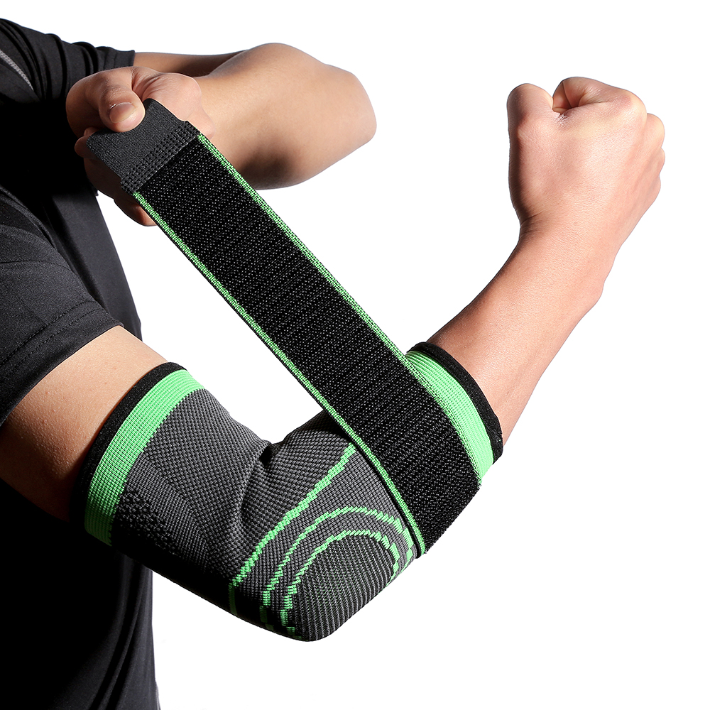 Breathable Bandage Compression Sleeve Elbow Brace Support Protector for Weightlifting Arthritis Volleyball Tennis Arm Brace