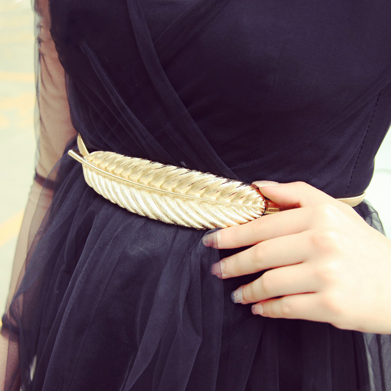 2018 New Fashion Designer Belly Chains Women High Quality Metal Stretch Brand Leaf Vintage Slinky Skinny Waist GoldSilver