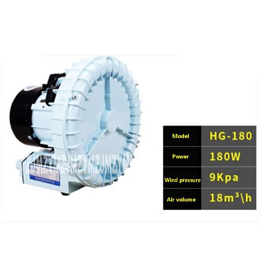 цена на New Arrival HG-180 vortex type oxygen pump ,Max air volume 18 cubic meter / H ,Seafood fish tank pond oxygen pump 220V 180W Hot