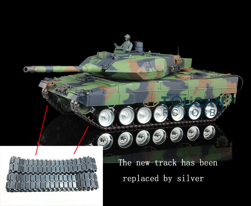 Henglong 1/16 Scale German Leopard2A6 RC RTR Tank Metal Road Wheel 360 Degrees Turret 3889 2 4ghz 1 16 scale henglong deep green german leopard2a6 rc rtr tank model metal tracks wheels 360 degrees rotation turret 3889