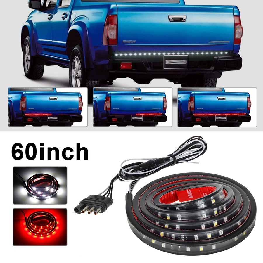 60 inch Red white Tailgate LED Strip Light Bar Pickup Truck Reverse Brake Turn Signal Tail