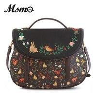 New Original Design MAMA Series Embroidery Cartoon Flowers Forest Animal Shoulder Bag Handbag Ladies Evening Bag