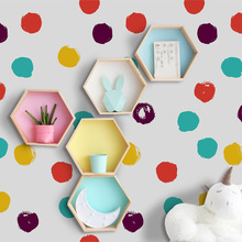 Nordic INS Creative Color Dot Wall Stickers For Kids Room Wardrobe Cabinet Background Vinyl Art Decals Home Decor