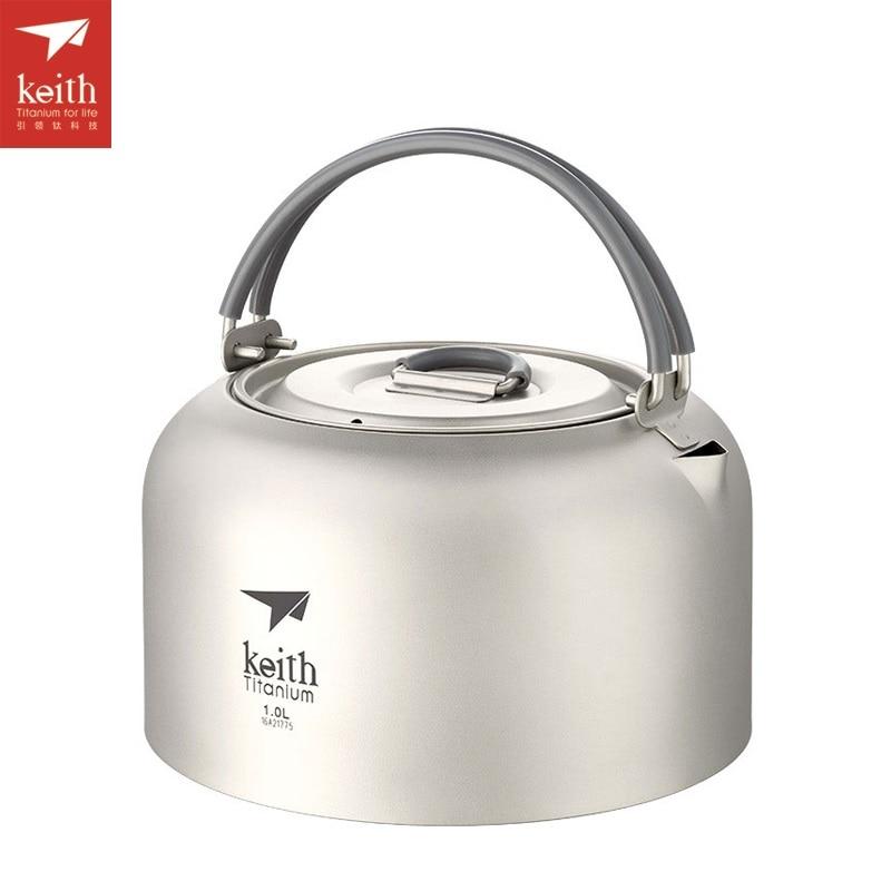все цены на Keith 1L-1.5L Titanium Ultralight Kettle Portable Tea Pot Camping Water Kettle Ti3901 онлайн
