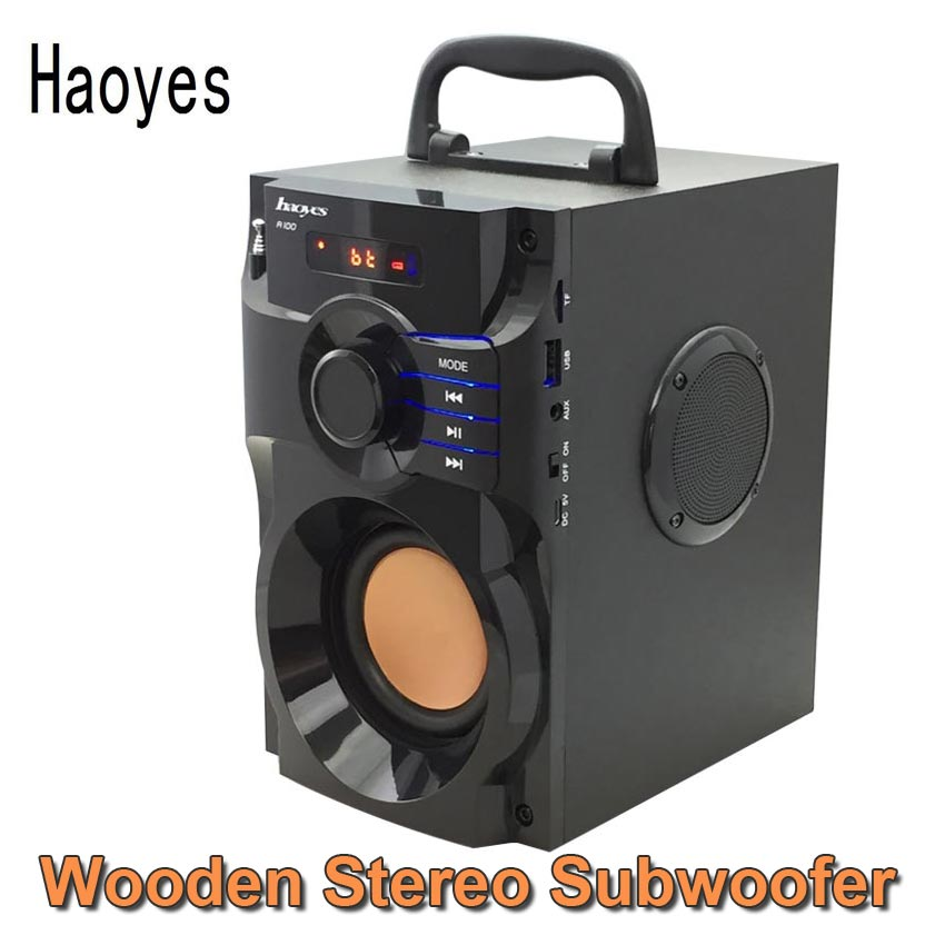 Portable Speakers HiFi Stereo Bluetooth Speaker 2.1 Subwoofer Play TF Card USB Disk Mp3 FM Radio Family Travel Good Bass Column  цена и фото