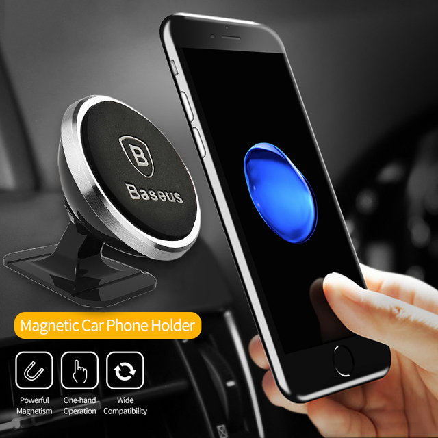 Baseus Universal Car Phone Holder 360 Degree Car Accessories Unisex color: GOLD Paste Type|Iron Plate|ROSE Paste Type|SILVER Paste Type