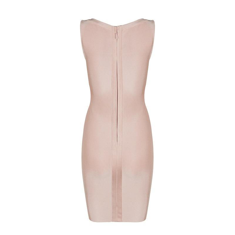 White New Women Summer White apricotpink Gosexy Bandage Hollow Out Dress 2017 Sleeveless 54HxwEqxt