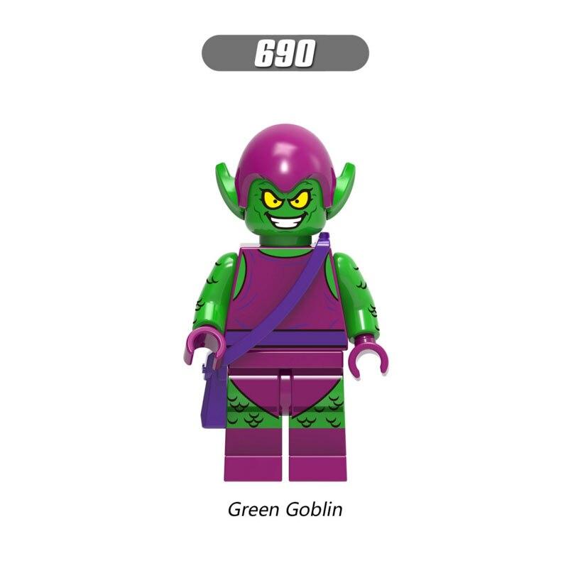 Single Sale Super Heroes Star Wars 690 Green Goblin Mini Building Blocks Figure Bricks Toys Kids Gifts Compatible Legoed Ninjaed