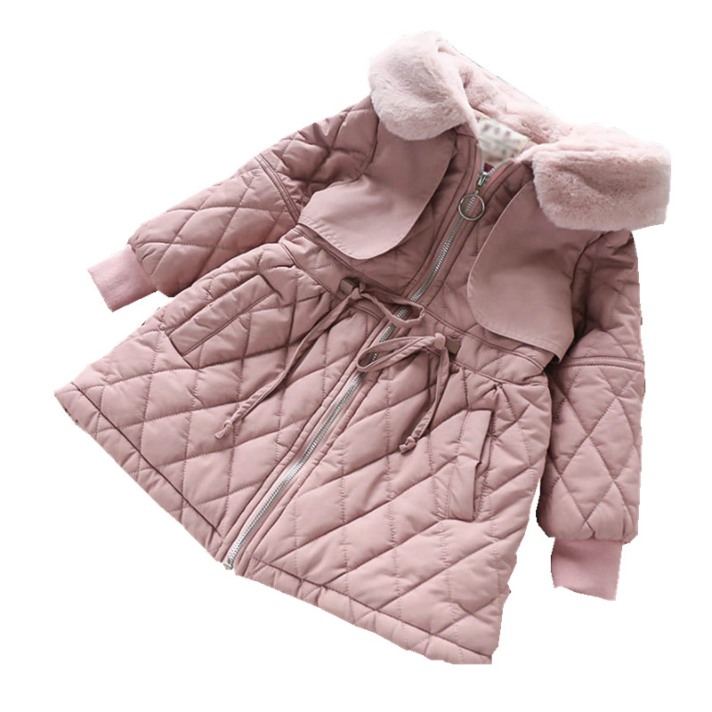 Leather Jacket Girls Winter Coat Girls long Parka For Girl coat Children's Winter Jacket Parka child coat children's clothing pcora down jacket for girls winter female child outwear khaki warm girl clothing size 3t 14t 2017 pink parka coat for baby girls