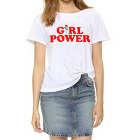Rose Power Letter Rose Print T Shirt Harajuku T Shirt Women Summer Short Sleeve Casual Clothing