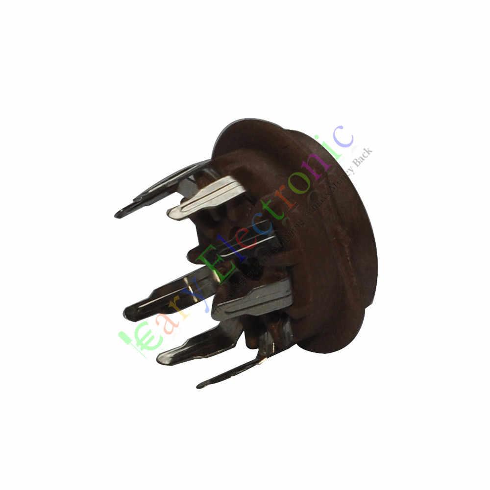 卸売と小売4ピース9ピンpcbベークライト真空管ソケット値12ax7 6p1 6n1 6n3オーディオamp送料無料