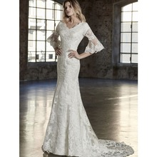 cecelle 2019 Mermaid Wedding Dresses With Bell