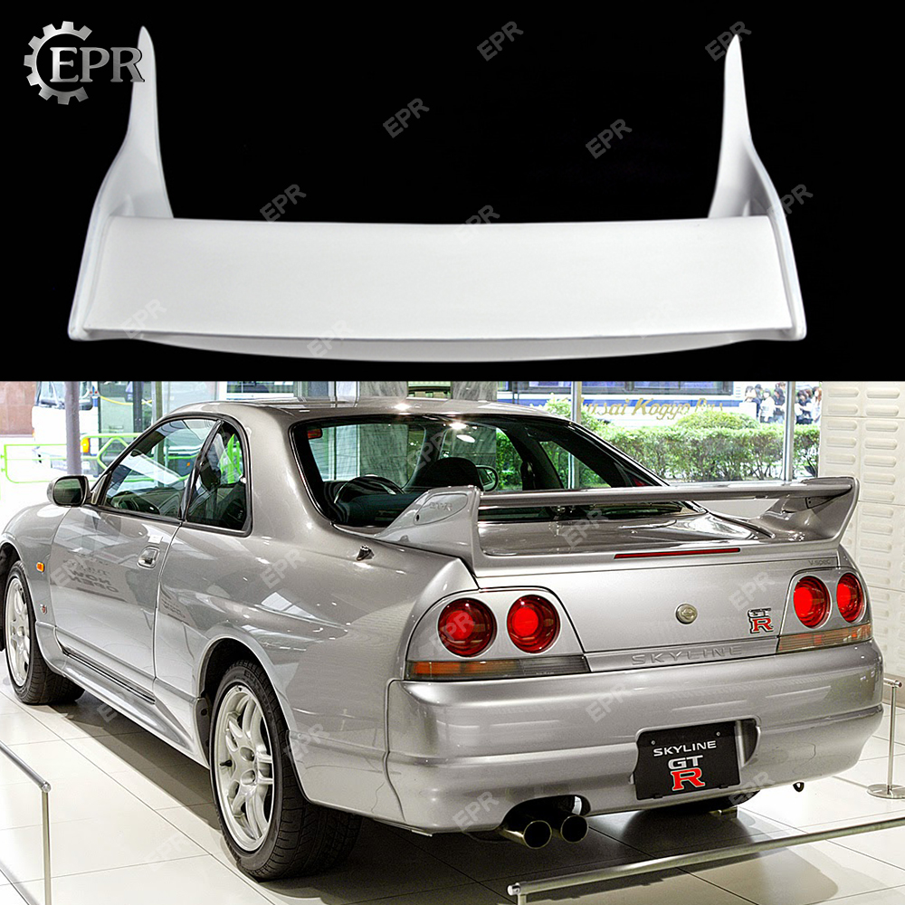 Nissan Gtr R33 >> Us 296 1 10 Off For Nissan Gtr R33 Skyline Oem Style Frp Fiber Glass Spoiler R33 Tuning Part Racing Trim For Skyline R33 Fiberglass Oem Wing In
