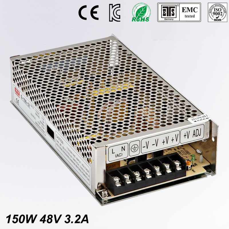 New model 48V 3.2A 150W Switching Power Supply Driver for LED Strip AC 100-240V Input to DC 48V free shipping 10pcs lot 9v 30a 270w switching power supply driver for cctv camera led strip ac 100 240v input to dc 9v free fedex