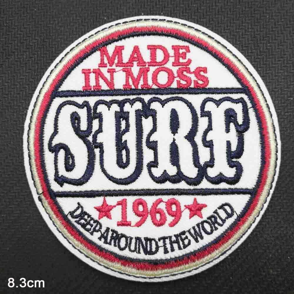 Kata Surat Surfing Besi pada Kain Bordir Pakaian Patch Untuk Pakaian Perempuan Laki-laki Grosir
