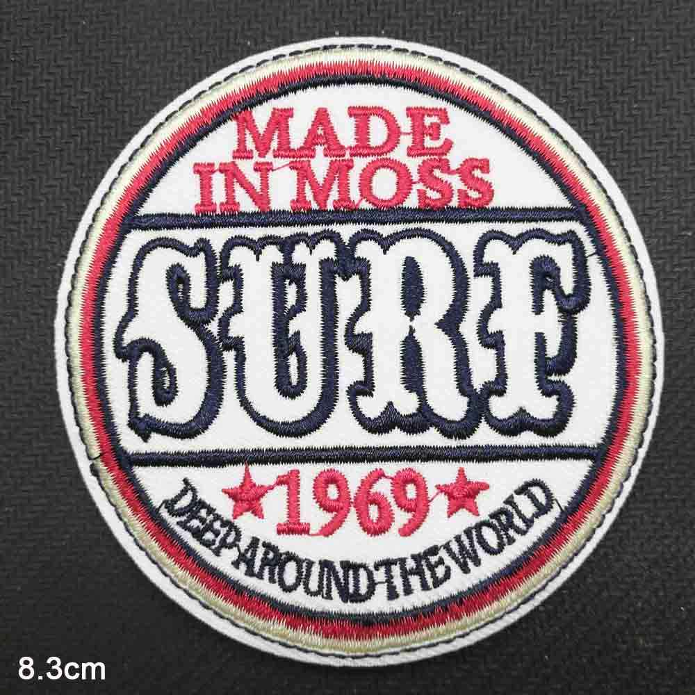 Palabras letras Surf hierro en tela bordada ropa parche para niñas al por mayor