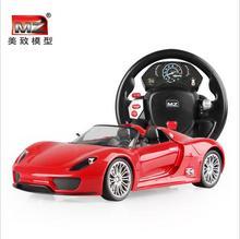 Remote control alloy car steering wheel a key gravity sensor control Porsc control car children a