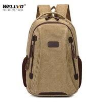 Wellvo Mężczyźni Mężczyzna Płótnie Studentów Szkoły Plecak Plecaki Laptop Plecaki Na Co Dzień Kobiety Mochila Plecak Torba XA1937C