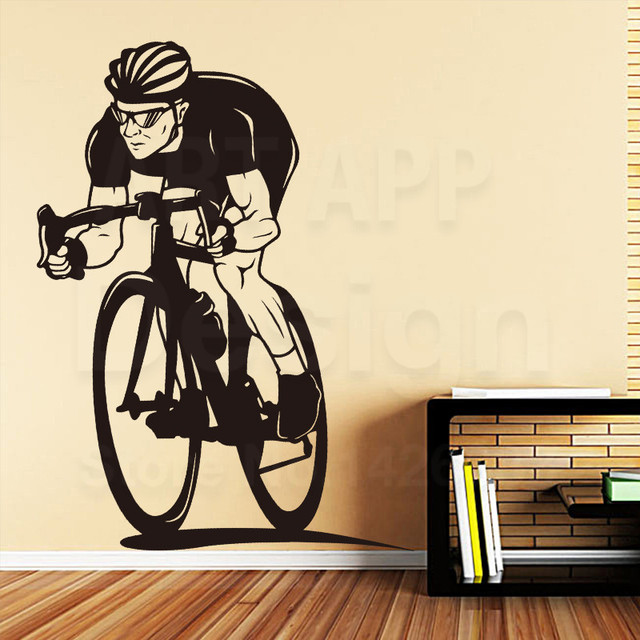 Art Design Home Decoration Vinyl Racing Bike Wall Sticker Removable Colorful House Decor Pvc X
