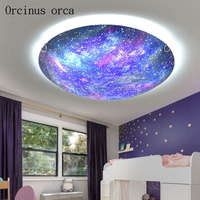 Creative cartoon planet LED ceiling lamp Boy Girl Bedroom children room lamp modern personality star ceiling lamp free shipping