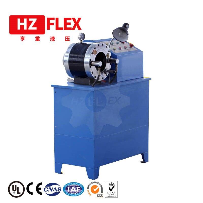 Fabricación 380 v 3kw 51mm HZ-50D multifunción máquina de prensado de manguera Horizontal hidráulica