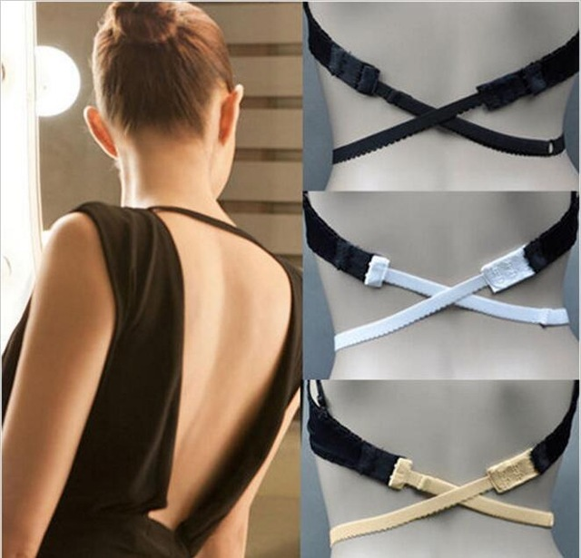 1pcs Low Back Backless Adapter Converter Bra Strap Fully Adjustable Backless Extender Hook Sexy Fashion Low-back Dress Bra Belt