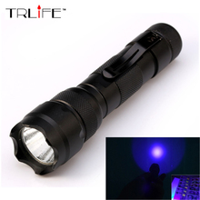 502B UV Flashlight Purple Light Ultraviolet Luxeon 395-410nm UV LED Torch Light Lamp