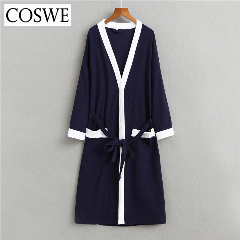 COSWE New Cotton Men Robe For Mens Winter Robes Long Male Bathrobe Pijamas  Masculinos Bathrobes Man Nightwear Mans Dressing Gown-in Robes from  Underwear ... b878a6ce0