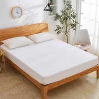Solid White waterproof Bed cover mattress cover USA CA Mattress Protector Cover bed linen fitted sheet bedspread twin bed queen