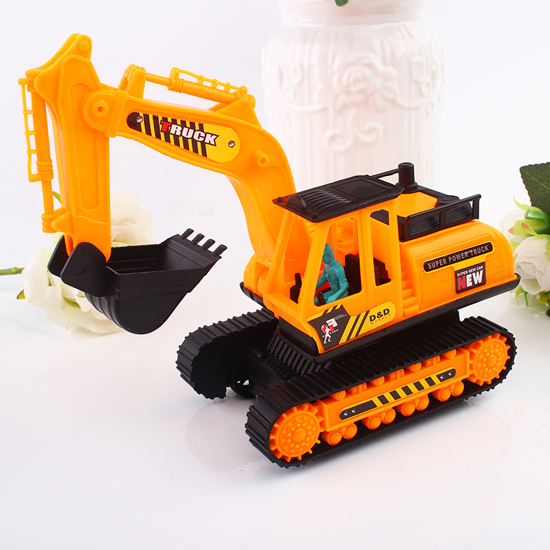 Creative Big Size Toys Digging Machine and Crane Interesting Babies Toys Stall Stuff Babies Toys