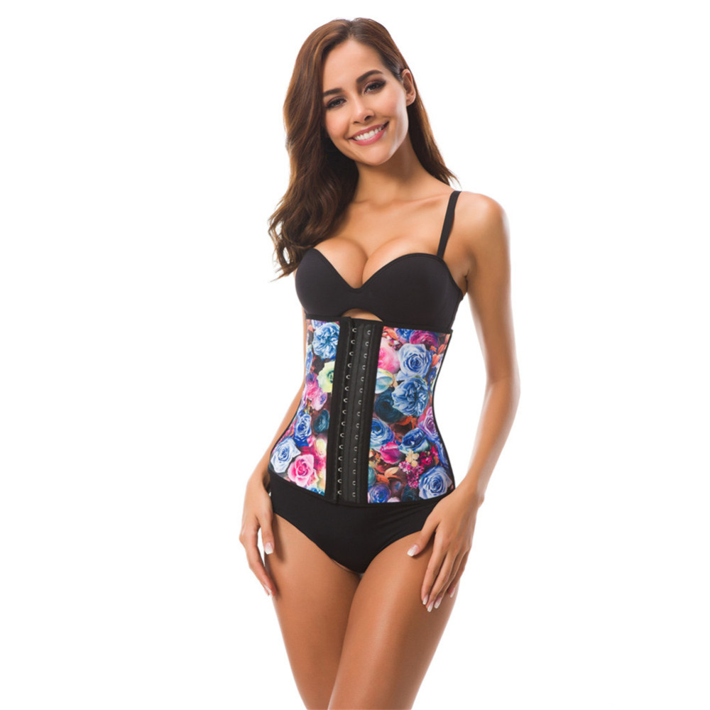 a03aa6d3ef92 Everbellus Sexy Rose Latex Underbust Corset for Women Slim Waist Trainer  Bustier Corset Corrective Underwear Hot Body Shaper-in Bustiers & Corsets  from ...