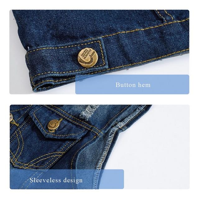 Casual Jeans Sleeveless Jacket Vest Men Streetwear Dark Blue Denim Jeans Vest  Plus Size 5XL Cowboy Waistcoat Mens Jackets