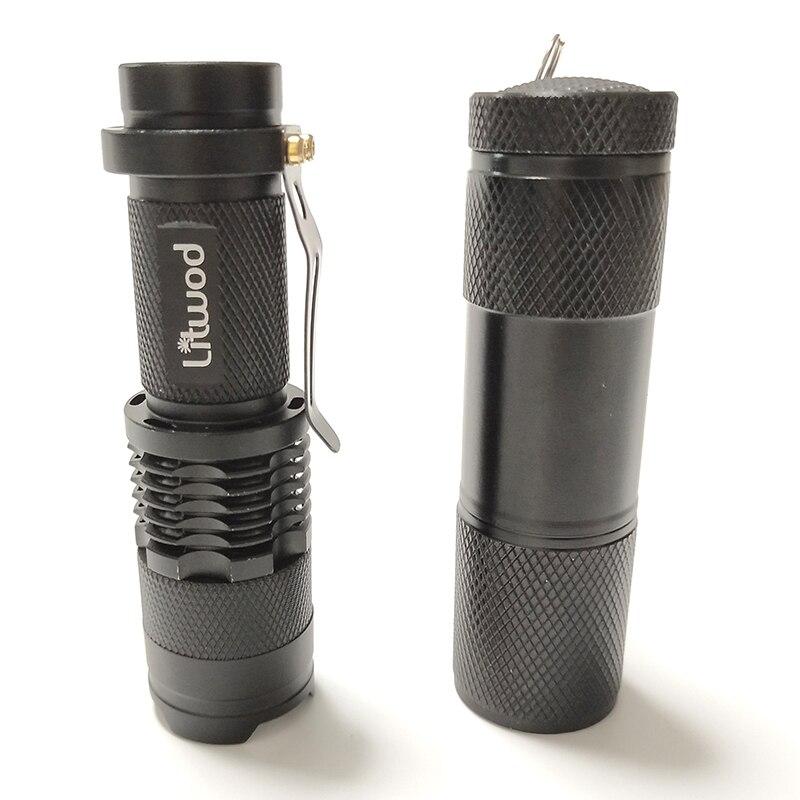 Litwod Z90 Mini penlight LED Flashlight Torch UV Light Waterproof 3 Modes Zoomable Adjustable Focus Lantern Portable Light