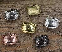 20mm 20 sztuk hello kitty ramka na zdjęcia medalik box, mosiądz brąz tone wisiorek europejski styl craft, biżuteria finding wisiorek