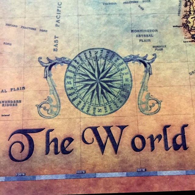 Nautical Ocean Sea world map Retro old Art Paper Painting Home Decor Sticker Living Room Poster Cafe Antique poster 2