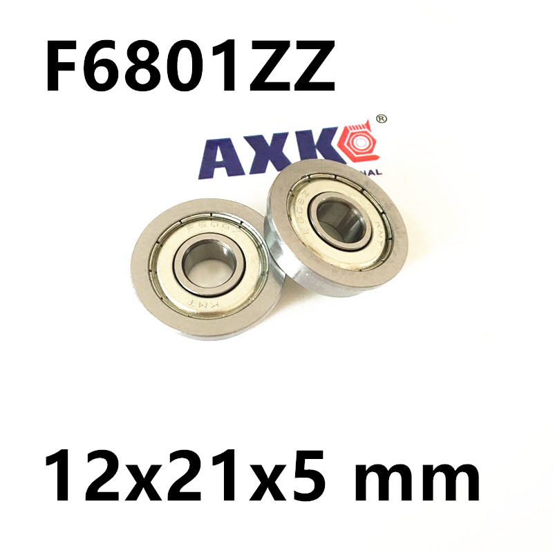 F6801ZZ Flange Bearing 12x21x5 mm ABEC-1  Thin Section Flanged F6801 Z ZZ Ball Bearings 6903zz bearing abec 1 10pcs 17x30x7 mm thin section 6903 zz ball bearings 6903z 61903 z