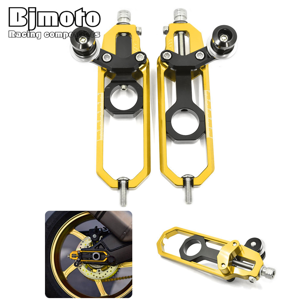 Bjmoto Motorcycle Rear Spindle Chain Adjuster Tensioners Catena Spools For BMW S1000RR 2009-2015 S1000R 2014-2015 HP4 2012-2014 cnc aluminum rear chain guard cover protector for bmw s1000r 2014 2015 s1000rr 2010 2016 hp4 2012 2014