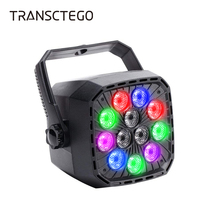 12 LED Par Light Stage Disco Light Laser RGBW Auto Master DMX 512 Wall Lighting DJ for Xmas Club Disco Par Party Lamp Spotlight стоимость