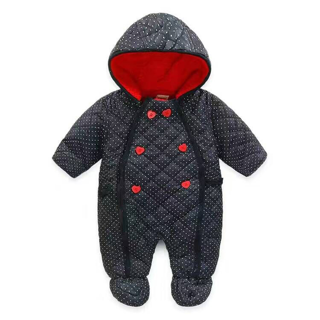 New Baby Rompers Winter Boy Girl Jumpsuit Overalls Snowsuit Christmas Gift Hooded Outwear Newborn Clothes 8 Colors