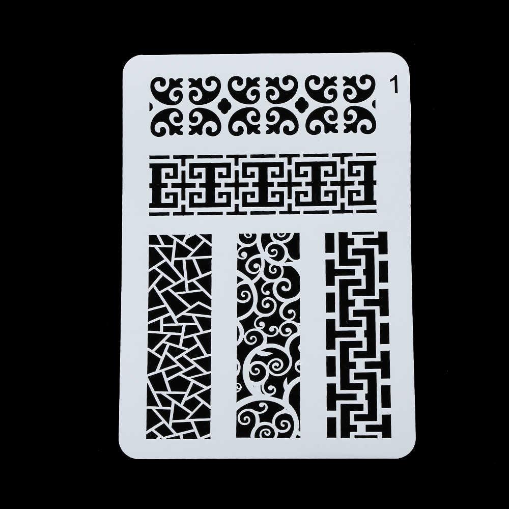 Геометрические полые трафареты для рисования стен Скрапбукинг штемпель для тиснения украшение для альбома тисненая картонная открытка шаблон