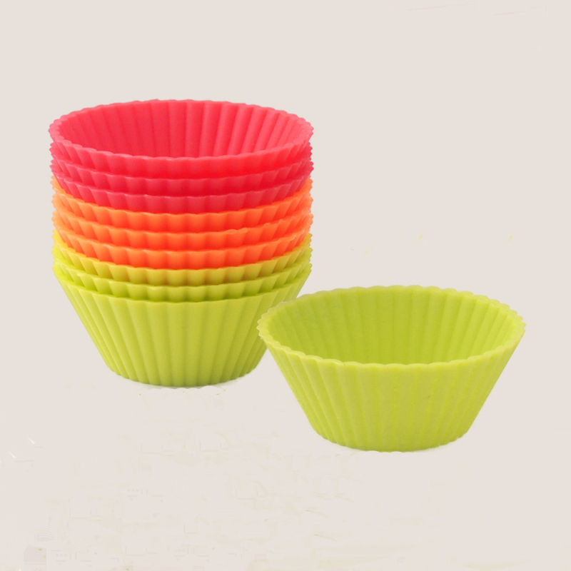 6pcs Cupcake Liners Mold Muffin Round Silicone Cup Cake ...
