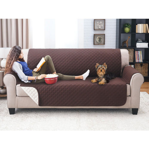 Genial Waterproof Sofa Protection Pad Couch Sofa Cover Removable Quilted Couch  Slipcover Pet Kids Protector With Strap