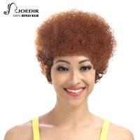 Joedir Human Hair Wigs For Black Women Machine Made Brazilian Remy Hair Kinky Curly Hair Wig Free Shipping