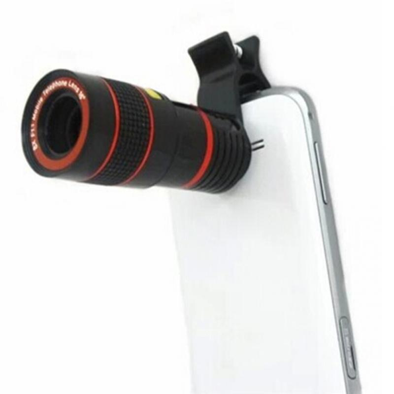 Universal 8X Optical Zoom Telescope Camera Lens Clip Mobile Phone Telescope For iPhone6 for Samsung for HTC for Huawei Xiaomi 70