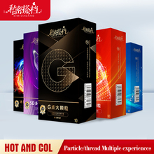 5D Dotted Thread Ribbed G Point Latex Condoms Contraceptives Big Particle Spike Condom for Men Sex Products 10PCS