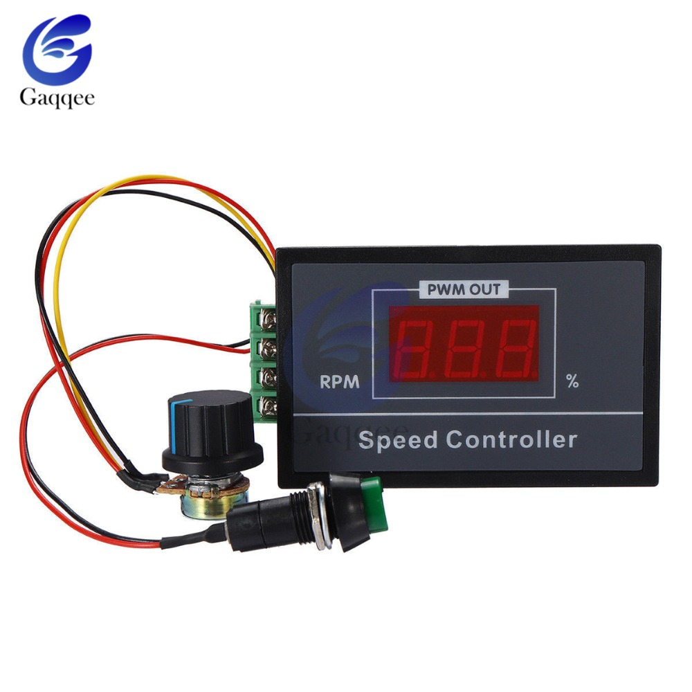 30A DC 6V-60V 12V <font><b>24V</b></font> 48V PWM <font><b>Motor</b></font> Speed <font><b>Controller</b></font> Digital LED Display 0~100% adjustable 15KHZ With potentiometer switch image