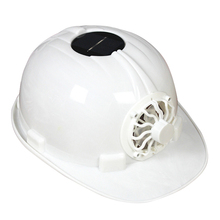 Solar Powered Safety Helmet Hard Ventilate Hat Cap with Cooling Cool Fan KH889